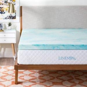 Linenspa Memory Foam Mattress Topper