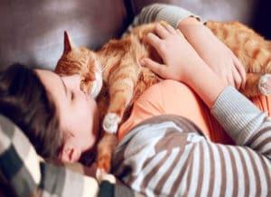 why do cats sleep on you