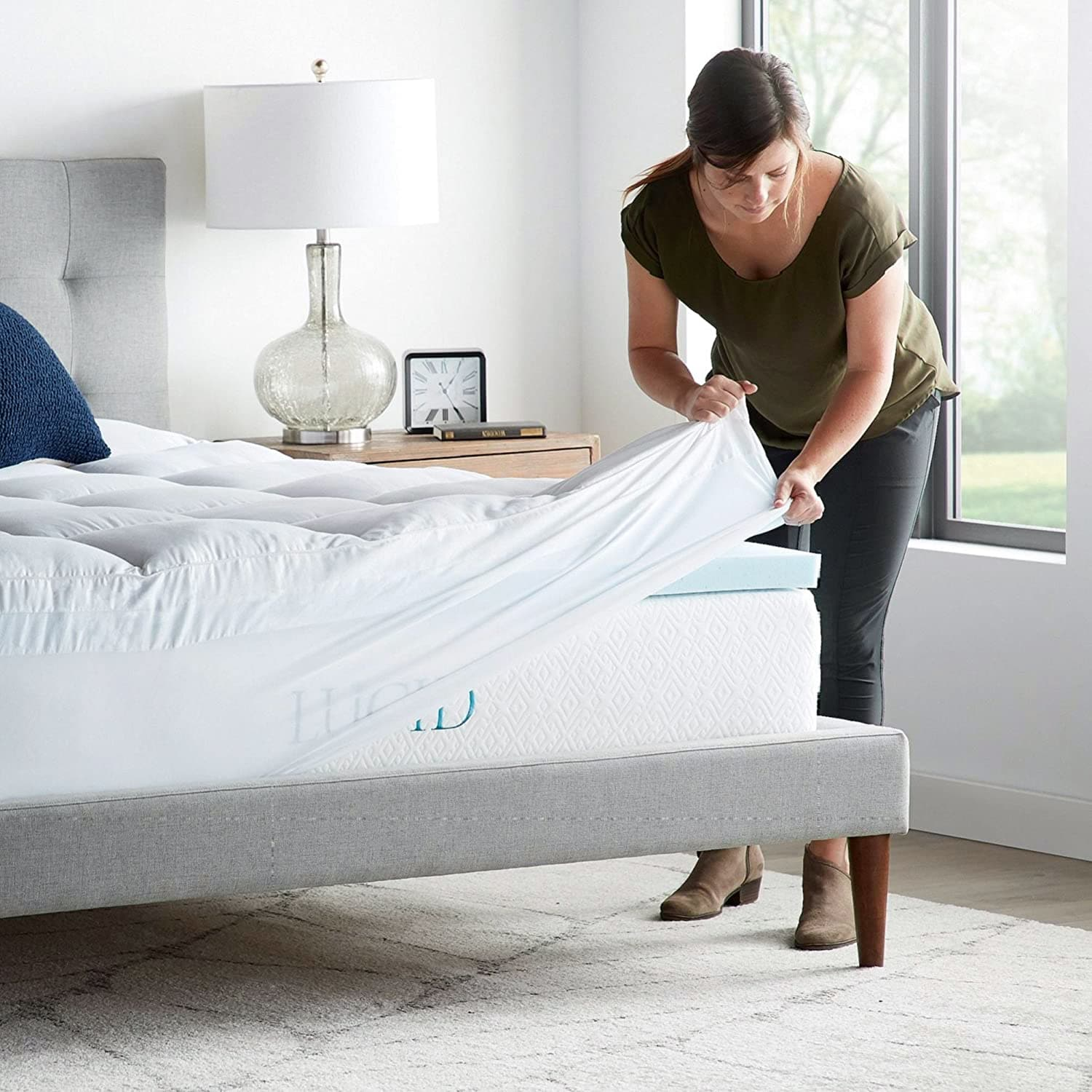 LUCID 4 Inch Gel Memory Foam Mattress Topper review